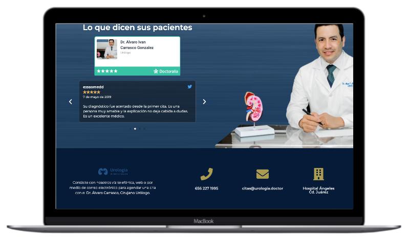 Pagina principal de Urologo en Cd Juárez
